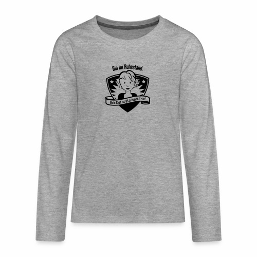 Ruhestand Comic - Teenager Premium Langarmshirt