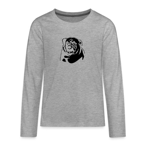 English Bulldog - negative - Teinien premium pitkähihainen t-paita