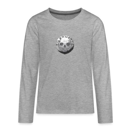 Rigormortiz Black and White Design - Teenagers' Premium Longsleeve Shirt