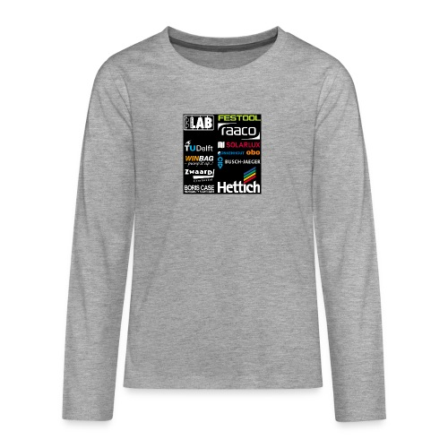 Sponsors back - Teenagers' Premium Longsleeve Shirt
