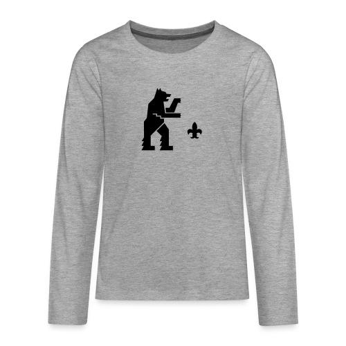 hemelogovektori - Teinien premium pitkähihainen t-paita