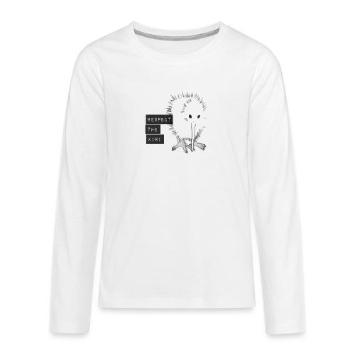 Respect the Kiwi - Teenager Premium Langarmshirt