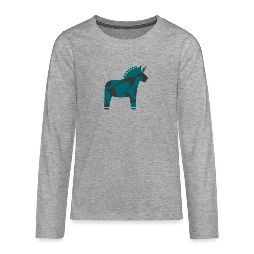 Swedish Unicorn - Teenager Premium Langarmshirt