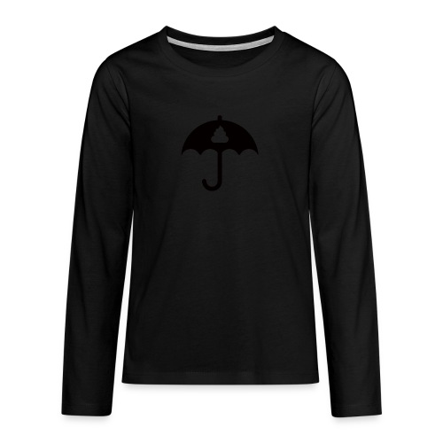 Shit icon Black png - Teenagers' Premium Longsleeve Shirt