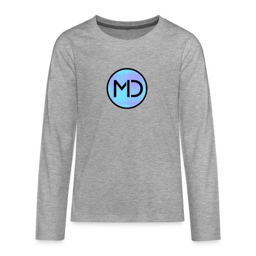 MD Blue Fibre Trans - Teenagers' Premium Longsleeve Shirt