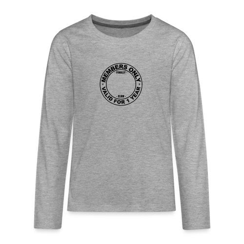 Finally XX club (template) - Teenagers' Premium Longsleeve Shirt