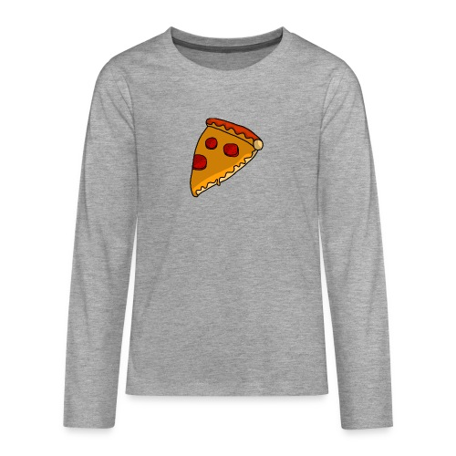 pizza - Teenager premium T-shirt med lange ærmer