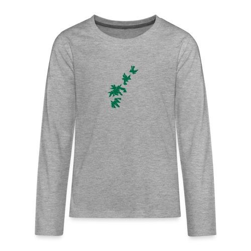 Green Leaves - Teenager Premium Langarmshirt