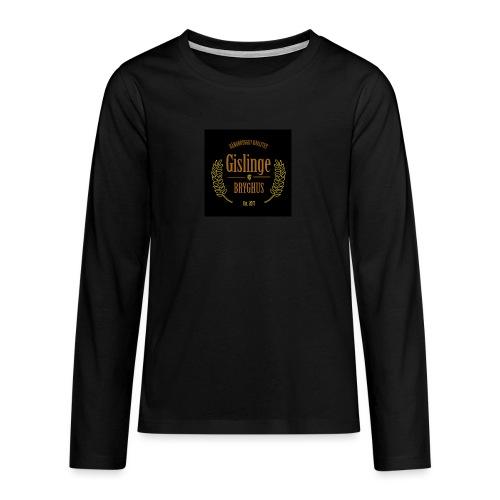 Sort logo 2017 - Teenager premium T-shirt med lange ærmer