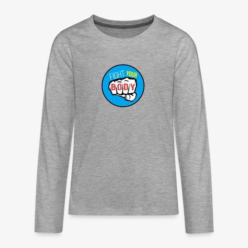 logo fyb bleu ciel - T-shirt manches longues Premium Ado