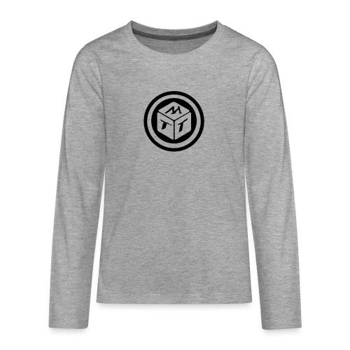 mb logo klein - Teenager Premium Langarmshirt