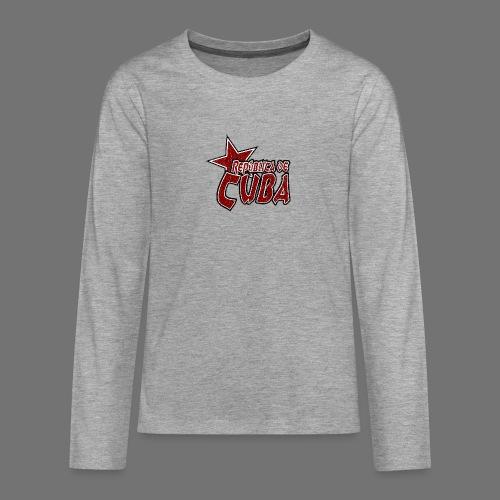 Republica de Cuba mit Stern (oldstyle) - Teenager Premium Langarmshirt