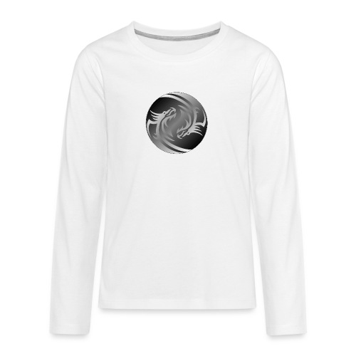 Yin Yang Dragon - Teenagers' Premium Longsleeve Shirt