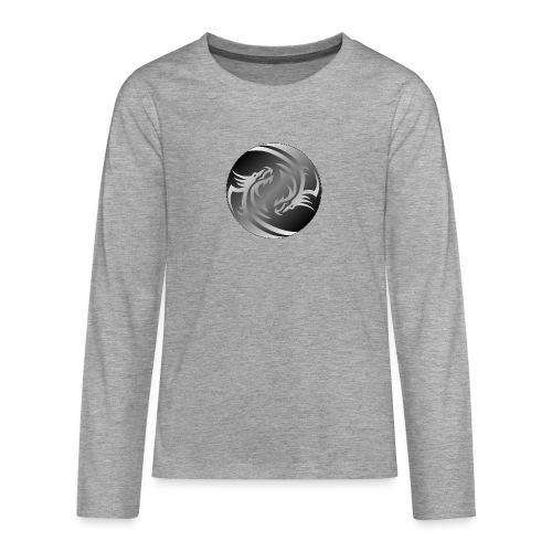 Yin Yang Dragon - Teenagers' Premium Longsleeve Shirt
