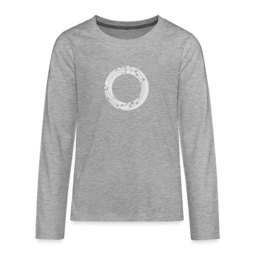 NBG Icon Weiß - Teenager Premium Langarmshirt