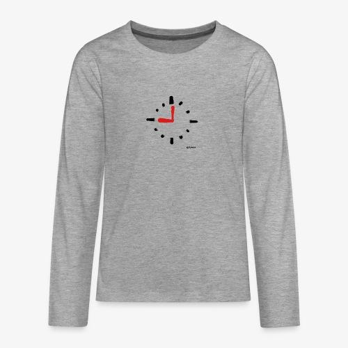 Kello - Teinien premium pitkähihainen t-paita