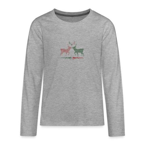 Christmas deer - Teenagers' Premium Longsleeve Shirt