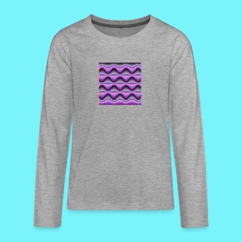 Sine waves in red and blue - Teenagers' Premium Longsleeve Shirt