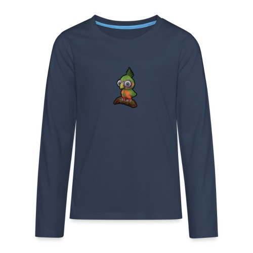 A bird sitting on a branch - Teenagers' Premium Longsleeve Shirt