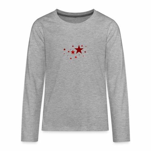 Sterne in Rot - Teenager Premium Langarmshirt