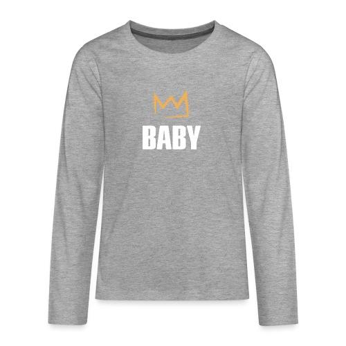 Baby mit Krone - Teenager Premium Langarmshirt