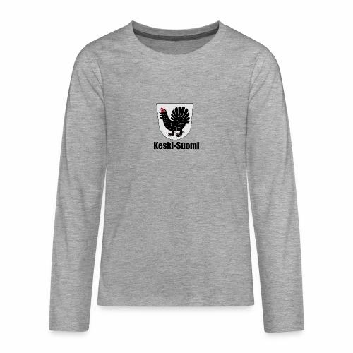Keski-Suomi vaakuna tuote - Teinien premium pitkähihainen t-paita