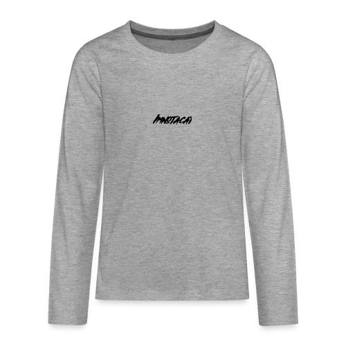 Immnotacat main design - Långärmad premium T-shirt tonåring