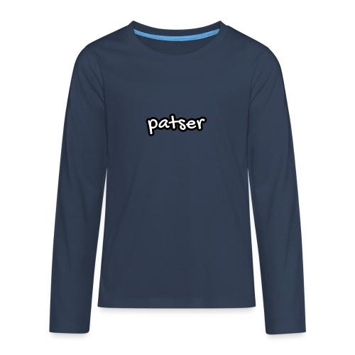 Patser - Basic White - Teenager Premium shirt met lange mouwen