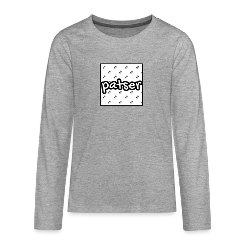 Patser - Basic Print White - Teenager Premium shirt met lange mouwen