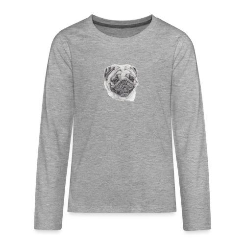 Pug mops 2 - Teenager premium T-shirt med lange ærmer