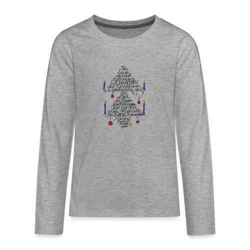 Tannenbaum Spruch - Teenager Premium Langarmshirt