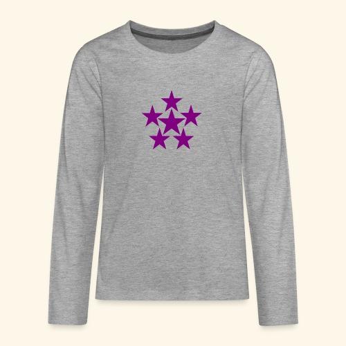 5 STAR lilla - Teenager Premium Langarmshirt