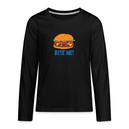 Bite me! - Maglietta Premium a manica lunga per teenager