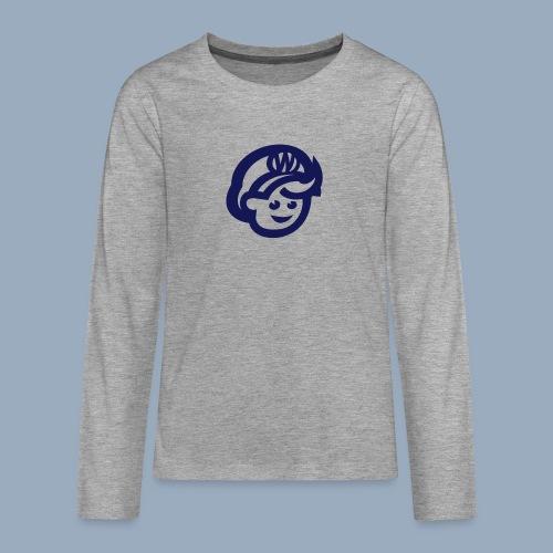 logo bb spreadshirt bb kopfonly - Teenager Premium Langarmshirt