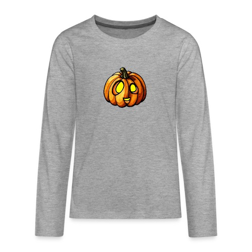 Pumpkin Halloween watercolor scribblesirii - Teenagers' Premium Longsleeve Shirt