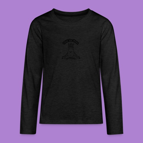 Chill the Bean black outline - Teenagers' Premium Longsleeve Shirt