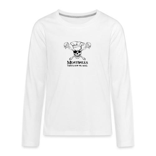 Meatballs - tinte chiare - Maglietta Premium a manica lunga per teenager