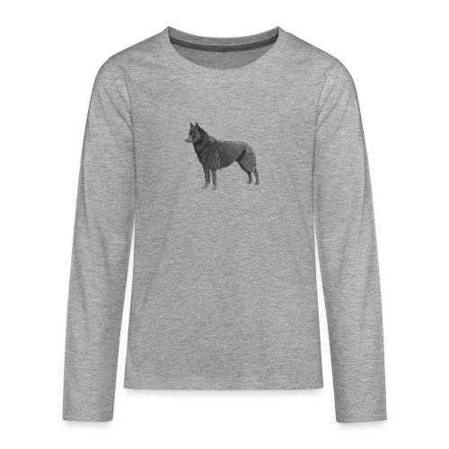 schipperke Ink - Teenager premium T-shirt med lange ærmer