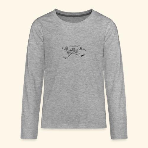Raubvogel schwarz - Serie Komischer Vogel - Teenager Premium Langarmshirt