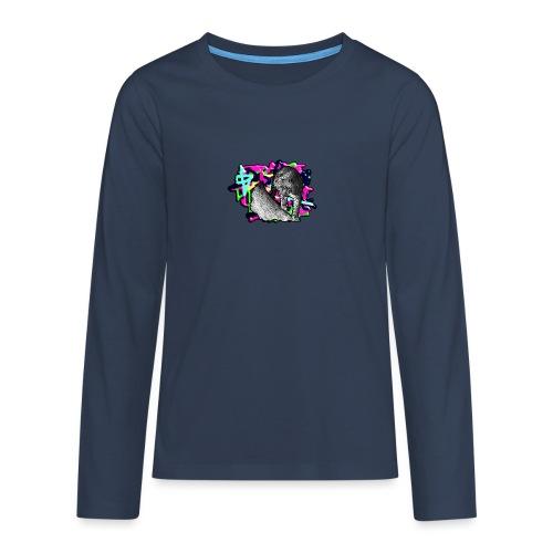 Leopard auf Bunt - Teenager Premium Langarmshirt