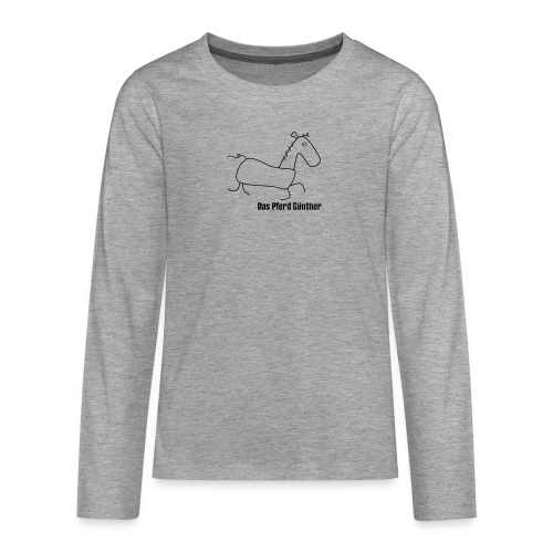 Das Pferd Günther - Teenager Premium Langarmshirt