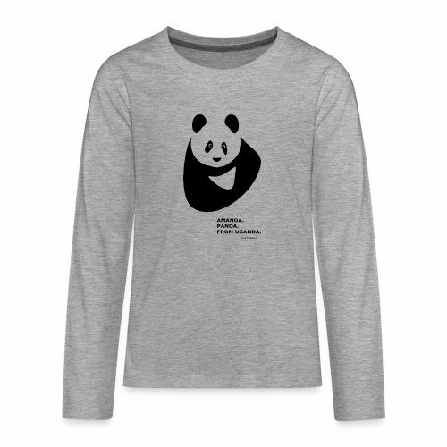 Panda from Uganda - Teenagers' Premium Longsleeve Shirt