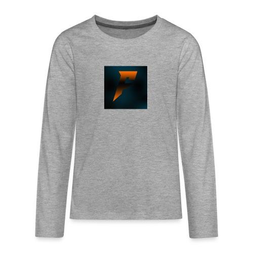 YoutubeLogo - Teinien premium pitkähihainen t-paita