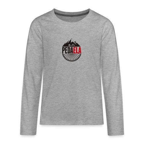 PEDAELA - Camiseta de manga larga premium adolescente