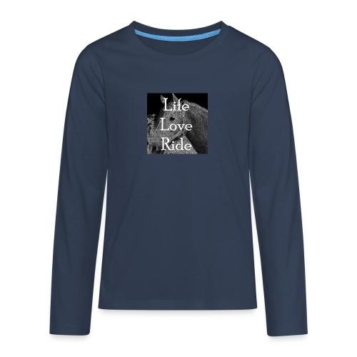 Life Love Ride - Teenager Premium Langarmshirt