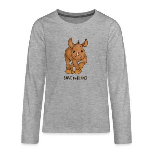 Save the Rhino - Teenagers' Premium Longsleeve Shirt