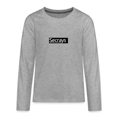 logo valkoinen teksti - Teinien premium pitkähihainen t-paita