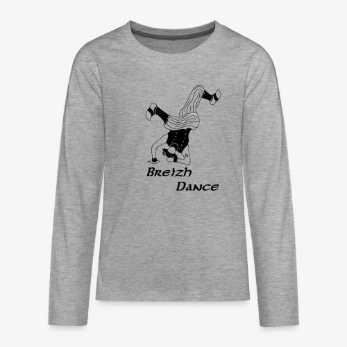BZH Atipik Design - Breizh Dance - T-shirt manches longues Premium Ado