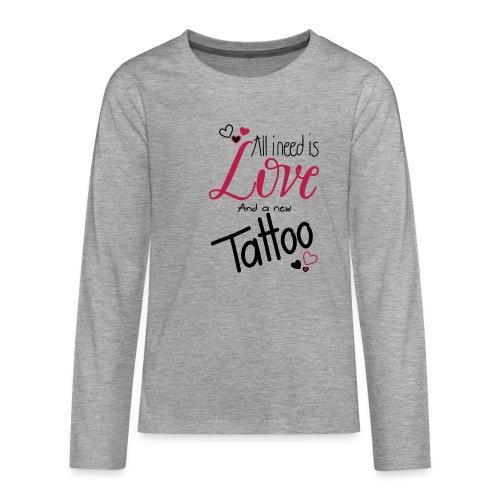 all i need is (schwarz) - Teenager Premium Langarmshirt