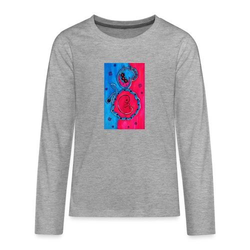 Born - Teinien premium pitkähihainen t-paita
